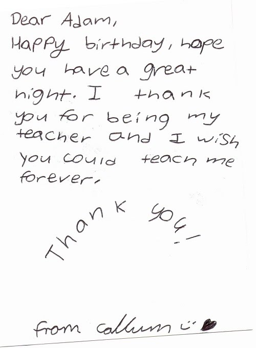Student Expressing Appreciation and Thank-you Towards the Tutoring Class