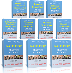 Selective School Test and GATE/ASET Test Practice Packages