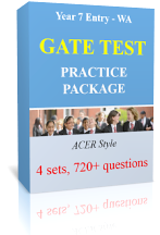 Yr 7 Entry - WA - GATE/ASET Test Online Practice Pack (4 sets, 720 questions)